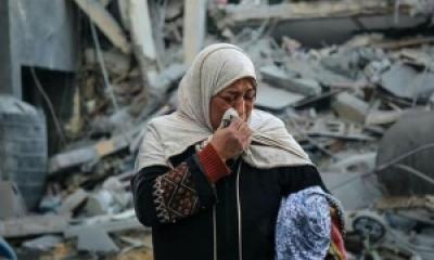 Ibu kehilangan rumah akibat serangan brutal Israel